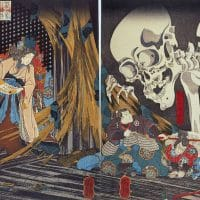 Utagawa Kuniyoshi (Japan), Takiyasha the Witch and the Skeleton Spectre, 1849.