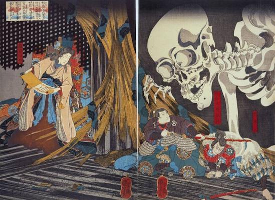 Utagawa Kuniyoshi (Japan), Takiyasha the Witch and the Skeleton Spectre, 1849.