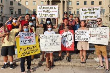 Against U.S.-Duterte's Terror Law: Winnipeg, CA
