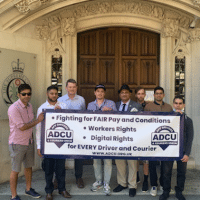 ADCU Members outside the Supreme Court on July 20, 2020