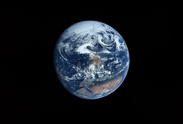 "Planet C This photo of Earth was taken a few frames after the famous Apollo 17 ""Blue Marble"" image but is my favorite in the sequence shot by Harrison Schmitt"