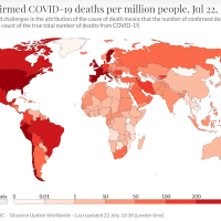 Covid deaths per million. Source: Wikipedia