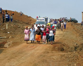 Kerry Ryan Chance (South Africa), Women protest against evictions and 'relocations' to a new housing development in the Siyanda shack settlement in Durban, March 2009.