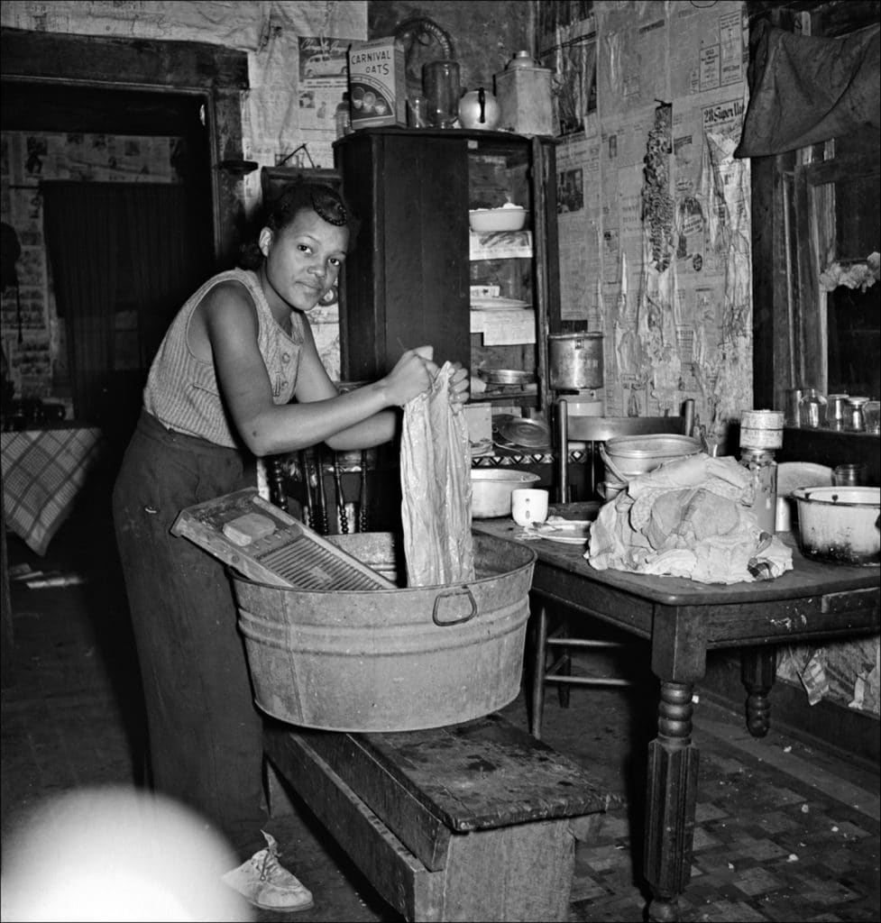 """""""Coal miner's daughter doing the family wash. All the water must be carried from up the hill. Bertha Hill West Virginia. 1938."""" Photo by Marion Post Wolcott/Farm Security Administration-Office of War Information Photograph Collection Library of Congress."""