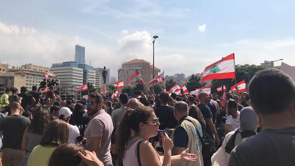 2019 Lebanese protests - Beirut (Wikimedia Commons)