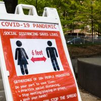 Arlington county (Washington DC)signage during COVID-19 outbreak