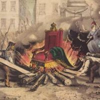Burning the throne of King Louis Philippe: Paris, 25 February 1848.