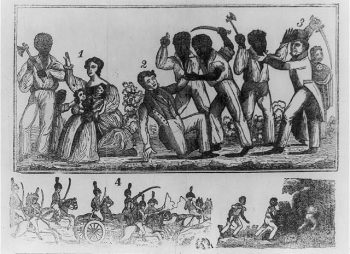 Historical depiction of the Nat Turner Uprising