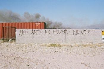 Political graffiti in Mandela Park, Khayelitsha, Cape Town, 2006 (Photo: Toussaint Losier)