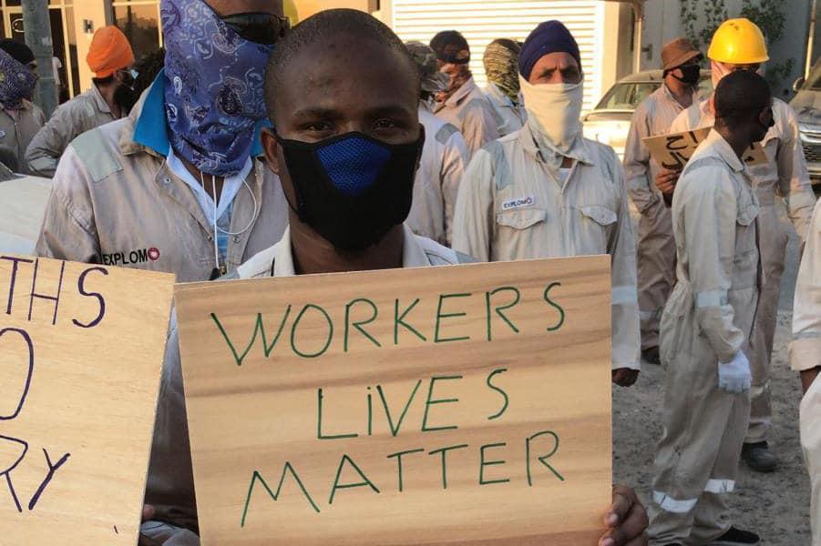 | Striking migrant workers in Mahboula in Kuwait | MR Online
