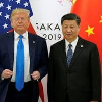 Trump & Xi, with flags