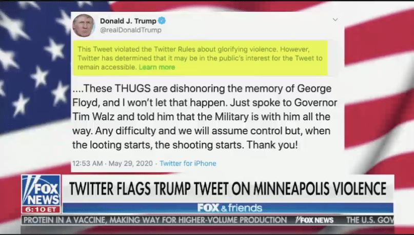 Twitter flags Trump tweet on Minneapolis violence