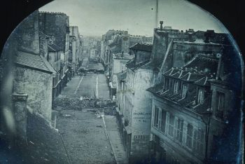 Barricades on the Rue Saint-Maur after the June uprising.