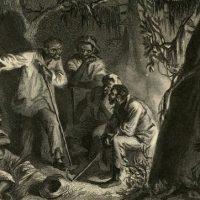 1863 depiction of planning for the Nat Turner uprising