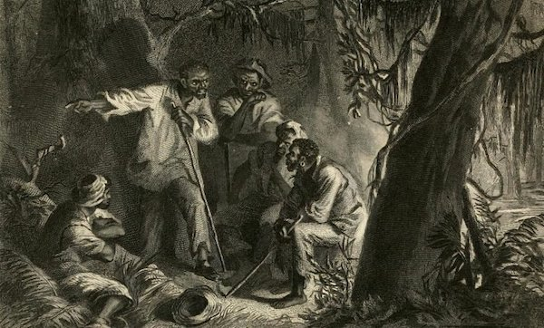1863 depiction of planning for the Nat Turner uprising