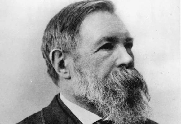 portrait of Friedrich Engels in 1891 (William Elliott Debenham)
