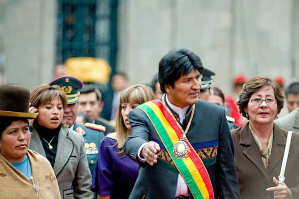 Wikipedia Evo Morales 2 year Bolivia (Photo: Joel Alvarez -Wikipedia)