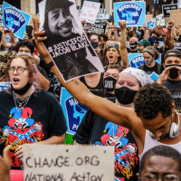 | Protesters march near the Minneapolis 1st police precinct during a demonstration against police brutality and racism on August 24 2020 in Minneapolis Photo Kerem YucelAFP via Getty Images | MR Online
