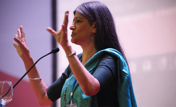 In a profoundly invigorating keynote speech, Professor Jayati Ghosh, Chairperson of the Centre for Economic Studies and Planning at the of Jawaharlal Nehru University. (Photo: YSI- Young Scholars Initiative)