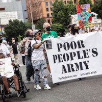 Biden's Philly Headquarters Rents a Fence to Stop the Poor People's Army