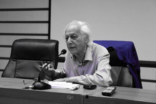 Samir Amin at Tsinghua University, Beijing, 2018