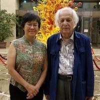 Kin Chi Lau and Samir Amin in Beijing