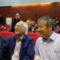 Samir Amin and Wang Hui at Tsinghua University, China, 2018