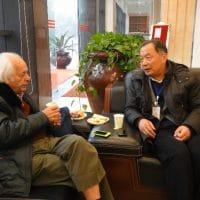 Samir Amin and Wen Tiejun at Southwest University, China, 2012