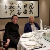 Dai Jinhua and Samir Amin, Beijing, 2018