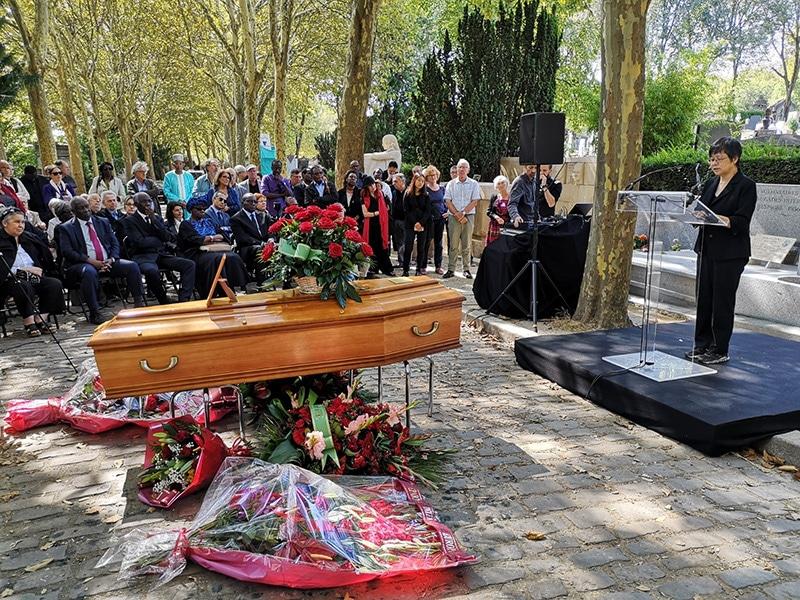 The funeral of Samir Amin, September 1, 2018
