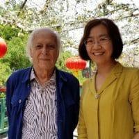Samir Amin and Wang Ping, Beijing, 2018