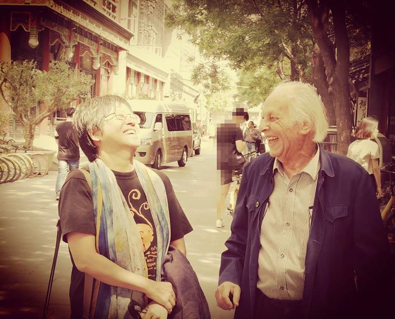 Kin Chi Lau and Samir Amin, Beijing, May 2018