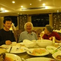 Yan Xiaohui, Samir Amin and Isabelle, Chongqing, 2012