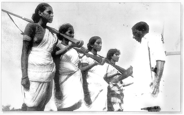 | Sunil Janah Mallu Swarajayam and other members of an armed squad during the Telangana armed struggle 19461951 | MR Online