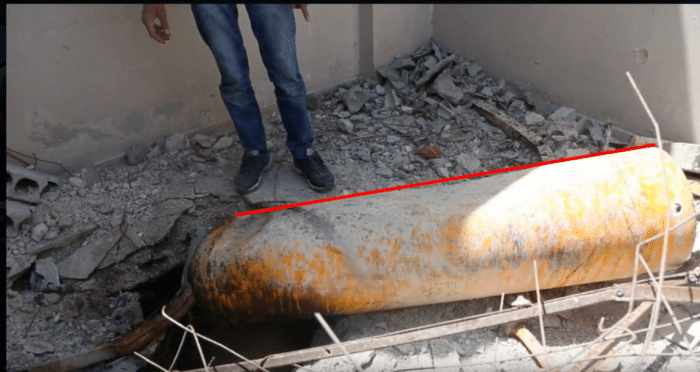 Angle of container at Balcony site