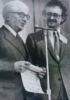 Immanuel Wallerstein (right) and Fernand Braudel (left)