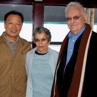 Wen Tiejun with Immanuel and Beatrice Wallerstein