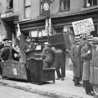 A 1933 protest against an eviction in the East Village