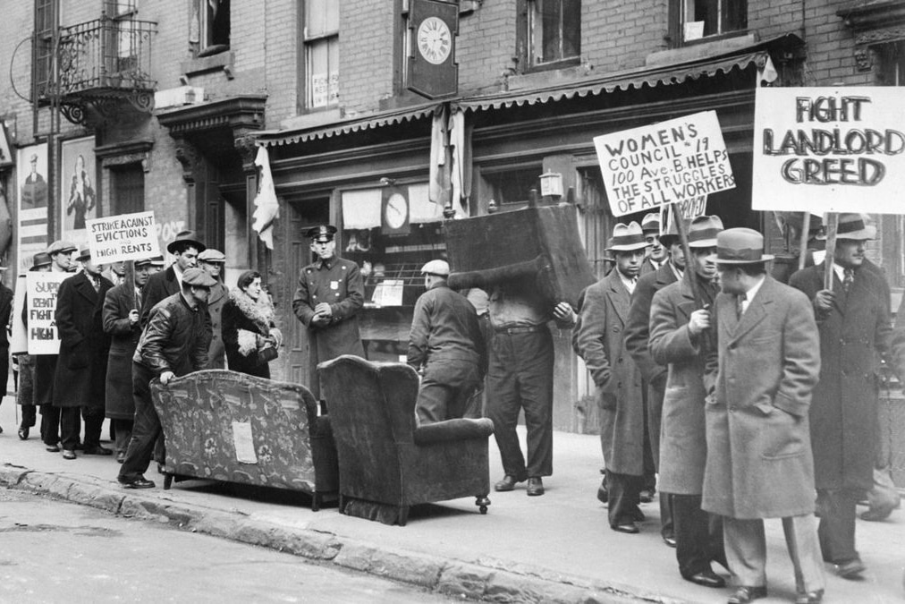 | A 1933 protest against an eviction in the East Village | MR Online
