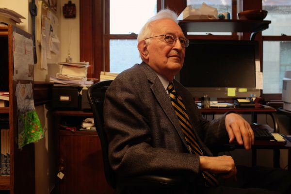Immanuel Wallerstein in his office at Yale University, April 20, 2015