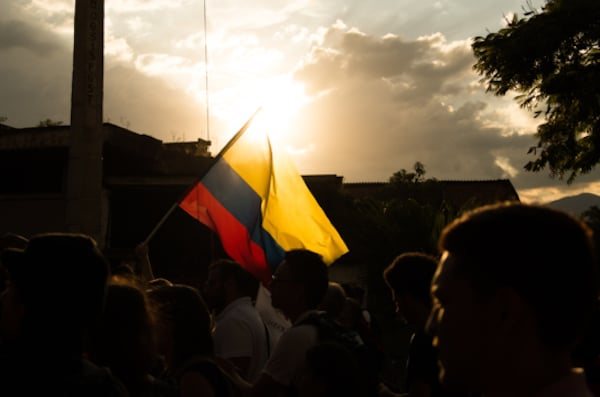 Venezuela flag at movement