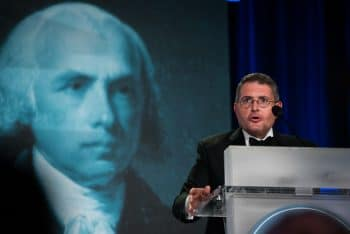 | Leonard Leo speaks at the 2017 National Lawyers Convention where he introduced future SCOTUS Judge Neil Gorsuch Sait Serkan Gurbuz | AP | MR Online