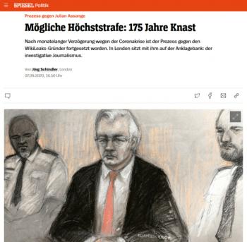 "Der Speigel's headline (9/7/20) reads: ""Maximum Sentence: 175 Years in Prison."""