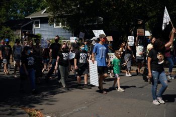 Families march for Black Lives asking for justice and police reform in Portland, Oregon on September 6, 2020. Photo: Allison Dinner/AFP/Getty Images