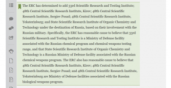 The Russian research institutions sanctioned by the U.S. government on August 27, 2020