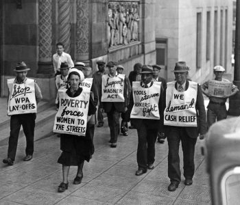 Protest during great depression