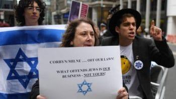 Pro-Israel anti-Corbyn protest (corporate media visual)