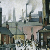 After the Wedding. L.S. Lowry.