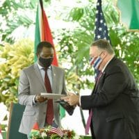 US Secretary of State Mike Pompeo announces the patrols alongside Guyana's newly installed conservative president, Irfaan Ali. (Resumen Latinoamericano)