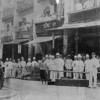 Staffordshire Regiment during the Plague, Hong Kong, 1894.